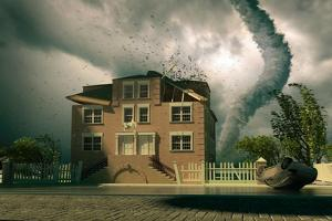 Tornado over the House by viczast