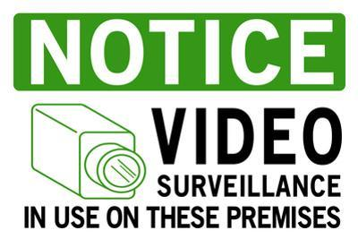 Video Surveillance Take Notice Plastic Sign