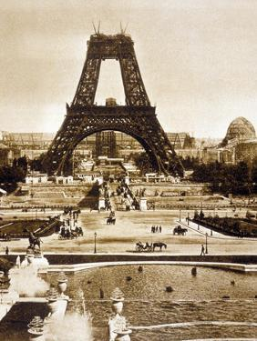 View from Chaillot Palace of Eiffel Tower Built for World Fair in 1889, Here 2nd Floor, 1888