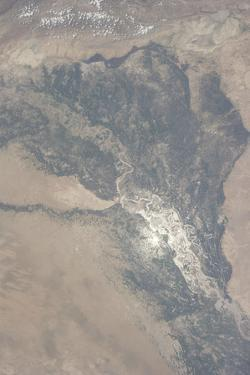 View from Space of the Indus Valley in Pakistan