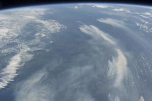 View from Space of the Wildfires Southeast of James Bay in Quebec, Canada