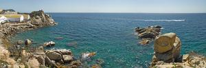 View from the lighthouse in Palamos, Costa Brava, Girona Province, Catalonia, Spain