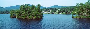 View from the Minne Ha Ha Steamboat, Lake George, New York State, USA