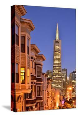 View from the Urban District of North Beach towards Transamerica Pyramid, San Francisco