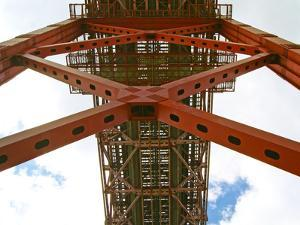 View from under the 25 De Abril Bridge on the North Bank of Tejo River, Lisbon, Portugal