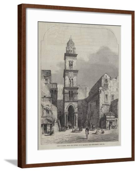 View in Gaeta, with the Church of St Erasmus-Samuel Read-Framed Giclee Print