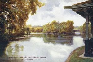 View in St Stephen's Green Park, Dublin, Via Holyhead