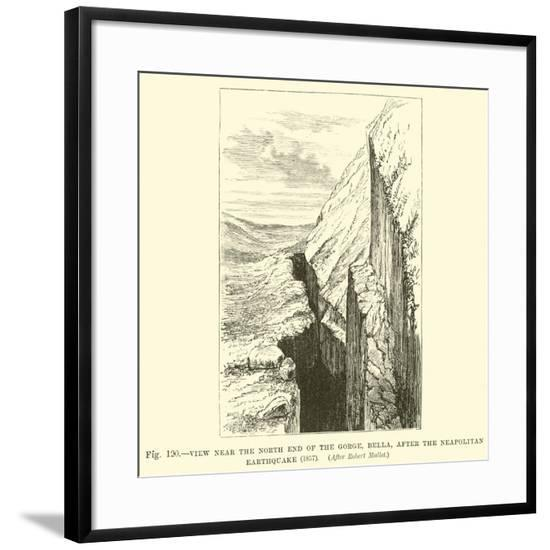 View Near the North End of the Gorge, Bella, after the Neapolitan Earthquake, 1857--Framed Giclee Print