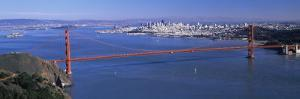 View of a Suspension Bridge, Golden Gate Bridge, San Francisco, California, USA