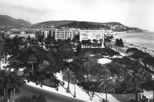 View of Albert I Gardens, Nice, South of France, Early 20th Century