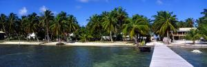 View of Beachfront from Pier, Caye Caulker, Belize