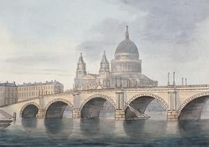 View of Blackfriars Bridge and St Paul's Cathedral, London, 1790