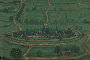 View of Bourbourg, Belgium...by Georg Joris Hoefnagel