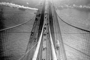 View of Brooklyn Bridge from Bridge Tower, New York