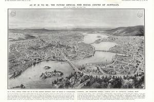 View of Canberra, Proposed Federal Capital of Australia, 1913