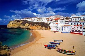 View of Carvoeiro, Algarve, Portugal