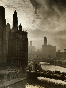 View of Chicago Sky and Skyscrapers