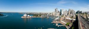 View of City, Sydney Opera House, Circular Quay, Sydney Harbor, Sydney, New South Wales, Australia