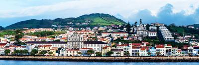 View of cityscape on an island, Madalena, Pico Island, Azores, Portugal