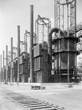 View of Cracking Stills at Oil Refinery