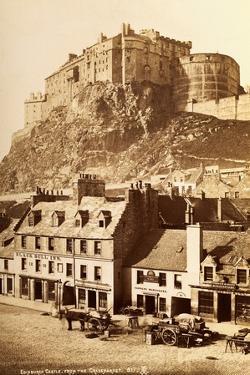 View of Edinburgh Castle from the Grassmarket
