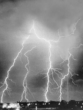 View of Four Bolts of Lightening