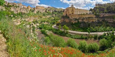 View of Gorge seen from town, Hoz del Huecar, Cuenca, Castilla-La Mancha, Spain