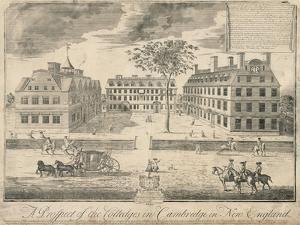 View of Harvard University before the American Revolution