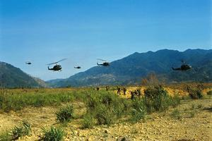 View of Helicopters Landing