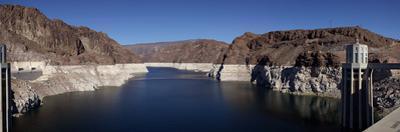 View of Hoover Dam, Black Canyon, Colorado River, Nevada, USA