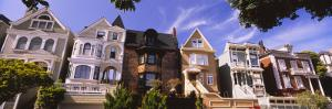 View of Houses in a Row, Presidio Heights, San Francisco, California, USA