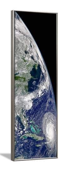 View of Hurricane Frances On a Partial View of Earth-Stocktrek Images-Framed Photographic Print