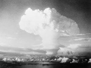View of Hydrogen Bomb Mushroom Cloud Rising