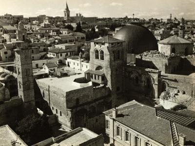 View of Jerusalem Showing Church of Holy Sepulchre in Foreground
