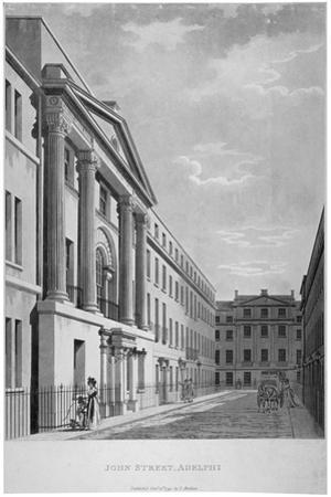 View of John Adam Street, Westminster, London, 1795