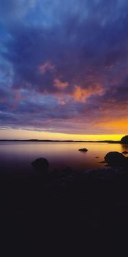 View of Lake Pielinen at sunset, Lieksa, Finland