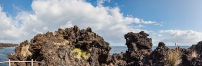 View of lava rock on the coast, Pico Island, Azores, Portugal