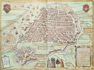 View of Lisbon, 1572, Portugal 16th Century