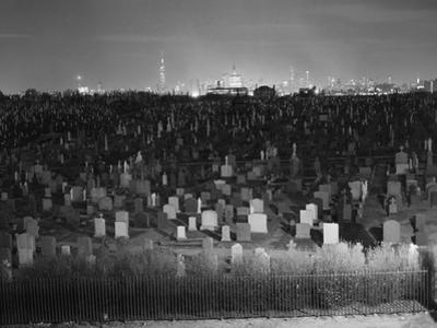 View of Manhattan above Queens Cemetery