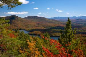 View of McKenzie Pond from Mount Baker, Adirondack Mountains State Park, New York State, USA