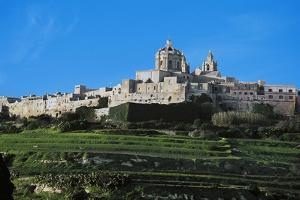 View of Mdina City and Cathedral of St Paul, 17th-18th Century, Malta