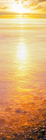 View of Ocean During Sunset, Calumet Park Beach, La Jolla, San Diego, California, Usa