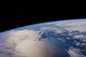 View of planet Earth from space showing North America near Nova Scotia, Canada