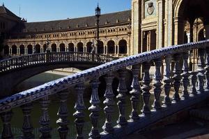 View of Plaza De Espana, Seville, Andalusia, Spain