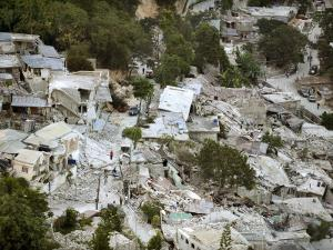 View of Port-Au-Prince, Haiti, after a Magnitude 7 Earthquake Hit the Country