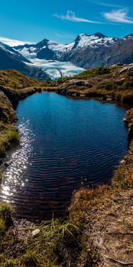 View Of Portage Glacier From Portage Pass Sc Alaska Summer