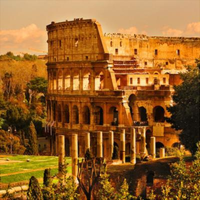 View of Rome Italy - Coliseum