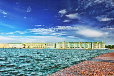 View of Saint Petersburg from Neva River. by Brian K