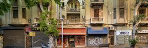 View of shops on the street, Allenby Street, Tel Aviv, Israel