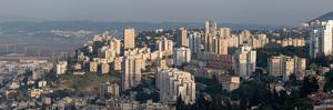View of skyscrapers, Mount Carmel, Haifa, Israel
